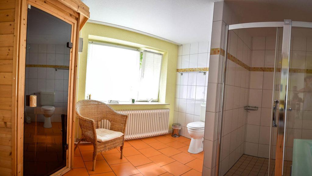 Sauna großes Doppelzimmer
