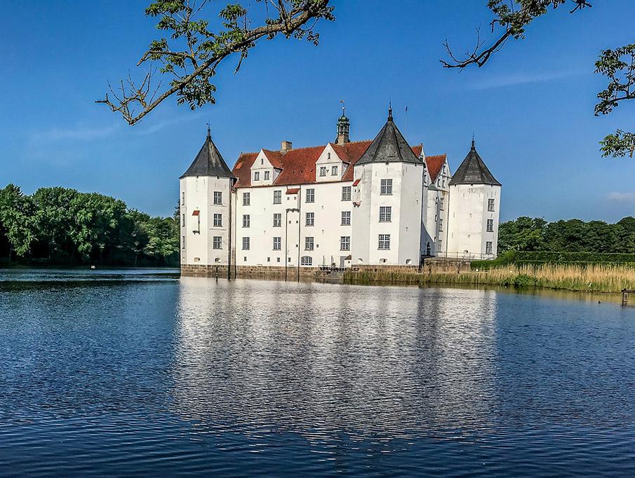 Schloss in Glücksburg an der Ostsee